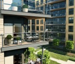CGI of Apartment Balcony at Dickens Yard Development in Ealing.